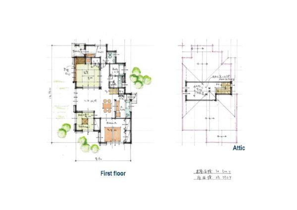 延べ床面積30.5坪の3LDKの平屋住宅
