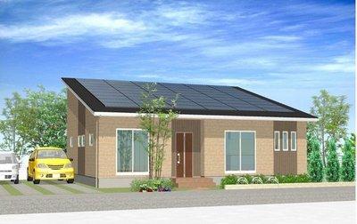 太陽光発電パネル12.96kw搭載の平屋住宅