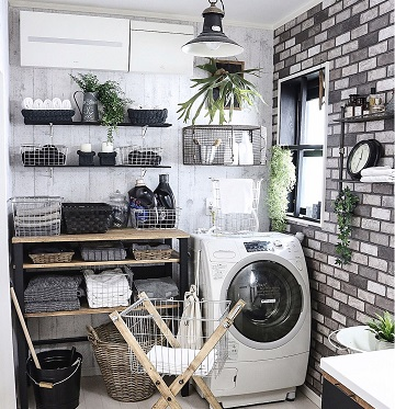 かっこいい洗面所の収納