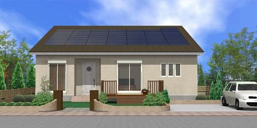 太陽光の平屋:間取り26坪、3LDK