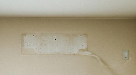 壁紙リフォーム後エアコン