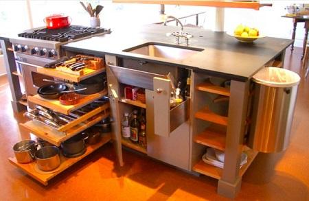 収納性の高いアイランドキッチン