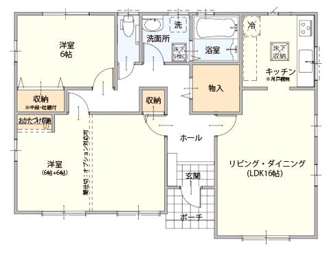 1000万円注文住宅家をたてる間取り図