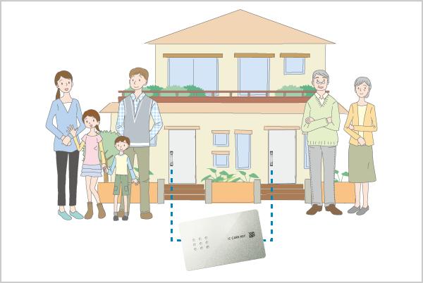 電子錠二世帯住宅