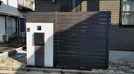 玄関目隠しフェンス