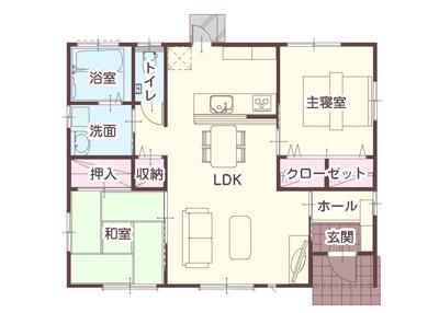 狭小住宅間取り平屋20坪