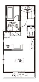 完全分離型二世帯住宅の間取り30坪