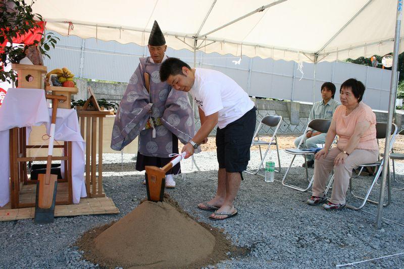 地鎮祭準備砂