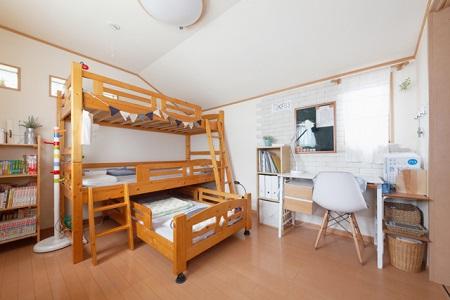 3人で1部屋の子供部屋