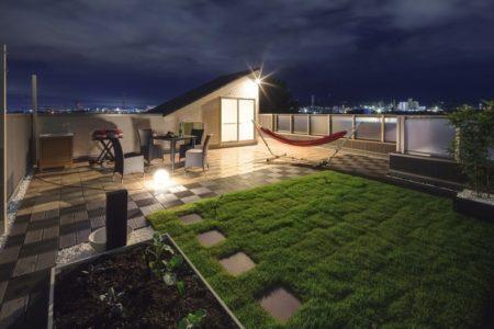 屋上注文住宅野菜庭園