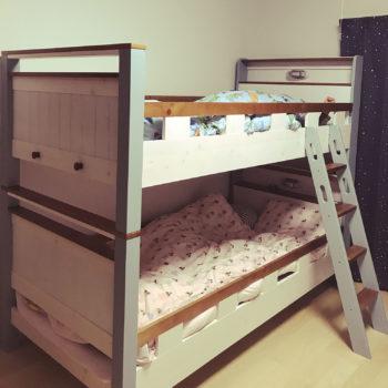 2段ベッドで分けている子供部屋