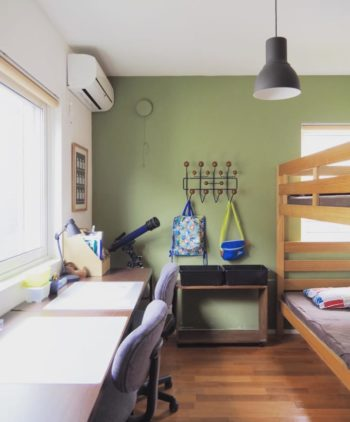 二段ベッドのある子供部屋
