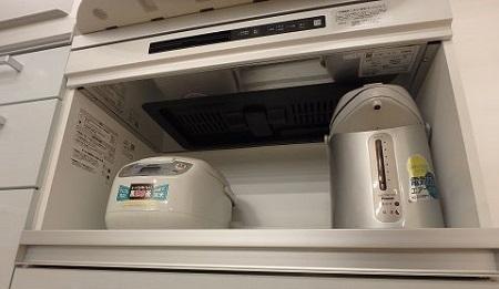 炊飯器の換気扇