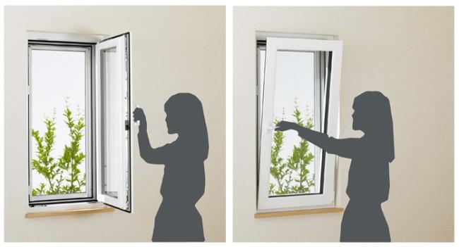ツーアクション窓