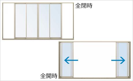 全開放引込み窓