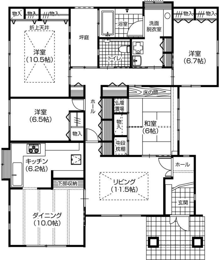 建て替え60坪平屋費用