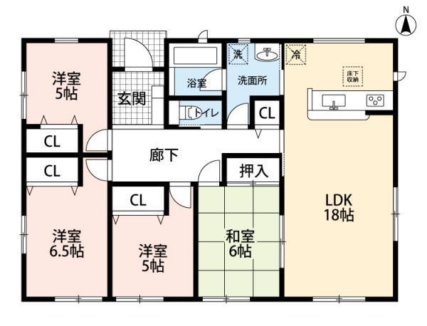 4LDK新築平屋