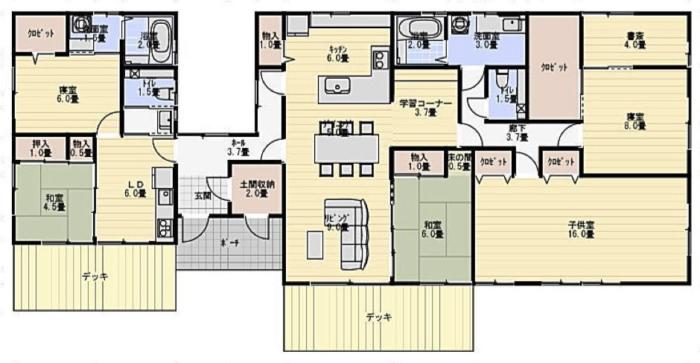 部分共有型平屋二世帯